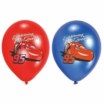 6 Ballons latex quadri Cars