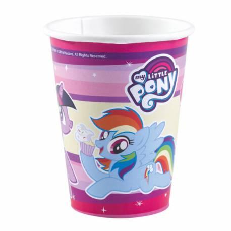8 Gobelets en carton Mon petit poney pour décoration de table d'anniversaire Mon Petit Poney 26 cl