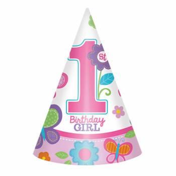 8 Chapeaux de fête Sweet girl 1an