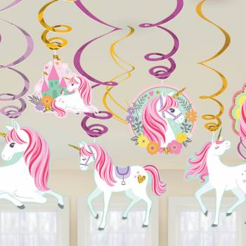 12 suspensions licorne magique