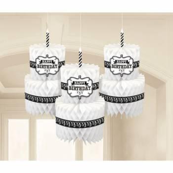 3 Suspensions éventail cake Birthday ardoise