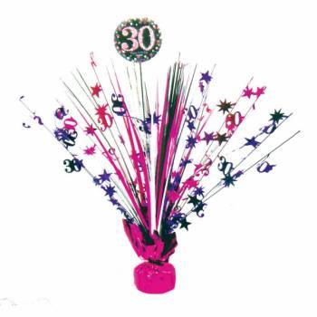 Centre de table pétillant pink 30ans
