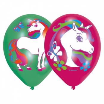 Ballons latex Licorne color