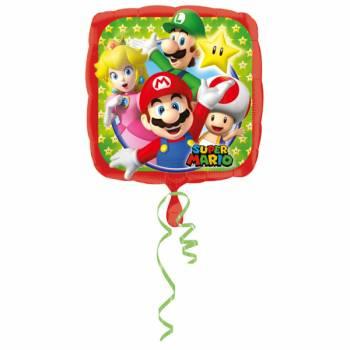 Ballon hélium carrée Mario Bros