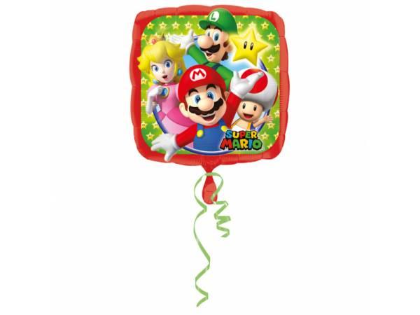 Ballon hélium carrée Mario Bros- deco anniversaire