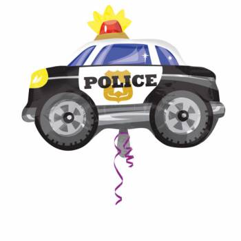 Ballon hélium voiture police