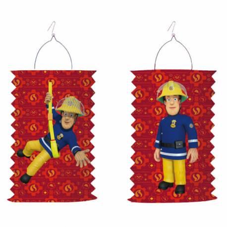 Lanterne en papier à l'effigie de Sam le pompier idéal pour un anniversaire sur le thème Sam le pompier Dimensions : 28cm