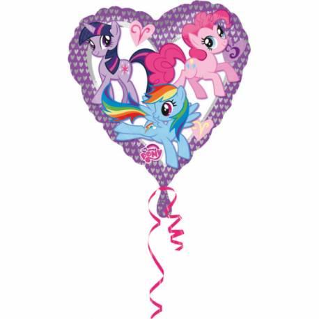 Ballon en aluminium en forme de coeur my litlle pony a gonfler, si possible, avec de l'hélium pour qu'il flotte dans l'air, cela a un...