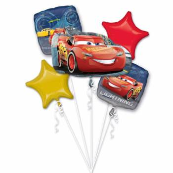 Bouquet ballons hélium Cars Disney