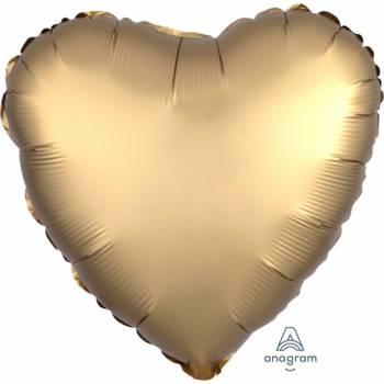 Ballon hélium satin luxe gold coeur