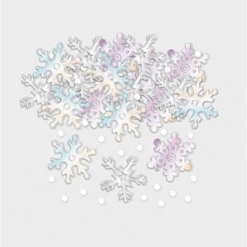 Confettis flocons de neige hologramme