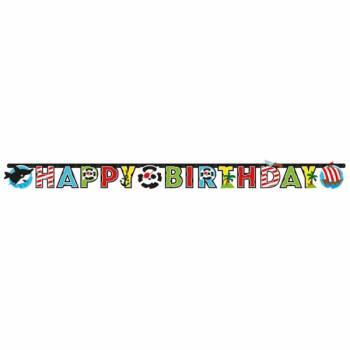 Guirlande Happy Birthday de fanions pirate