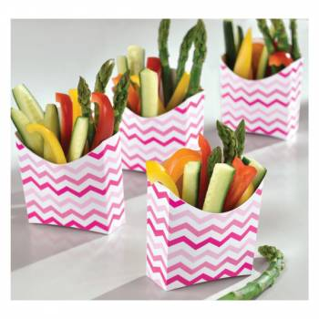 24 Mini box snack chevrons rose