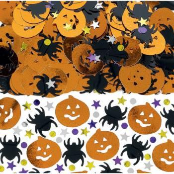 Confettis de table halloween métallique