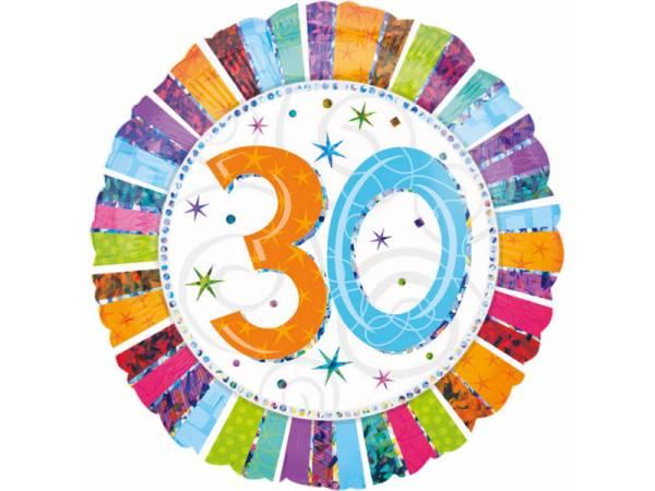 Deco anniversaire ballon g ant aluminium 30 ans - Deco anniversaire 30 ans ...