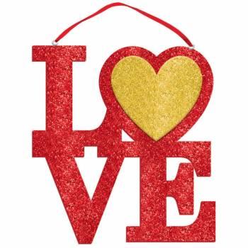 Pancarte pailleté LOVE