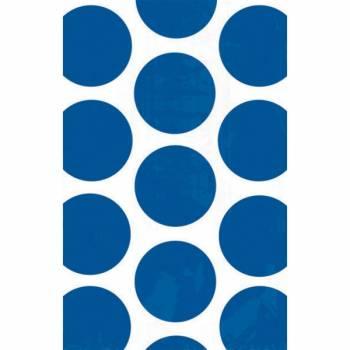 10 sacs en papier pois bleu marine