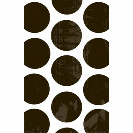 10sacs en papier pois noirs pour confiseries Dimensions : 18 cm x 10.7 cm