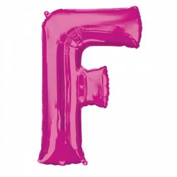 Mega Ballon Hélium lettre F fuschia