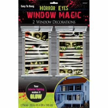 2 Décors de fenêtre yeux Zombies