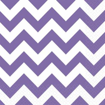 20 Serviettes papier chevrons violette