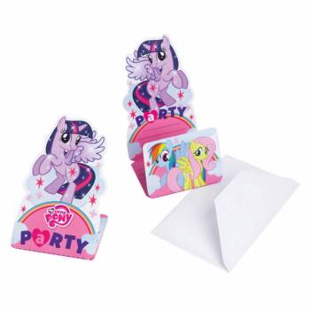 6 Invitations Mon petit poney