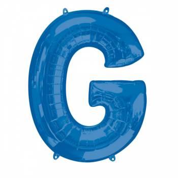 Mega Ballon Hélium lettre G bleu