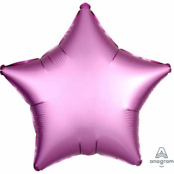 Ballon hélium satin luxe flamingo étoile