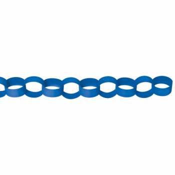 Guirlande chaîne en papier bleu
