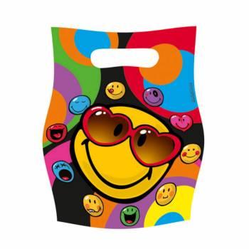 6 sachets de fête Smiley