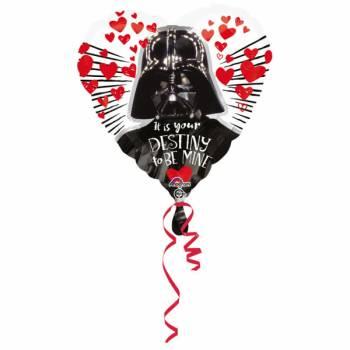 Ballon hélium coeur Dark Vador