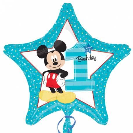 Ballon Mickey Star en forme d'étoile en aluminium pour la décoration anniversaire de votre enfant. Ballon à gonfler avec ou sans hélium...