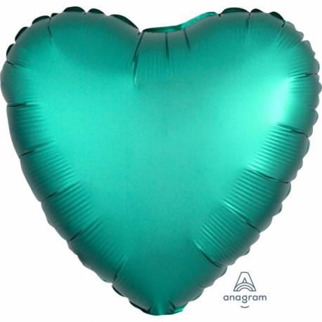 Superbe ballon hélium avec effet satiné haut de gamme à gonfler avec ou sans hélium à l'aide d'une paille Forme coeur couleur...