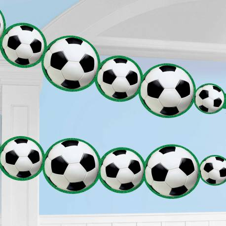 Guirlande de ballons de footparty idéal pour la décoration d'un anniversaire Dimensions : 243cm x 14cm