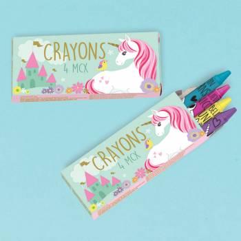 12 Boîtes crayons Licorne magique