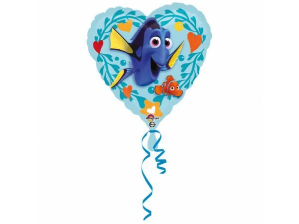 Ballon hélium coeur Dory