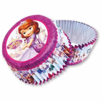 24 caissettes à cupcakes Princesse Sofia