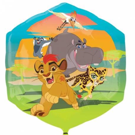 Ballon hélium le roi lion en aluminium pour la décoration anniversaire de votre enfant. Ballon à gonfler avec ou sans hélium à l'aide...