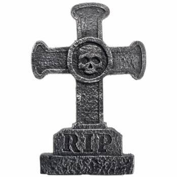 Pierre tombale factice en croix