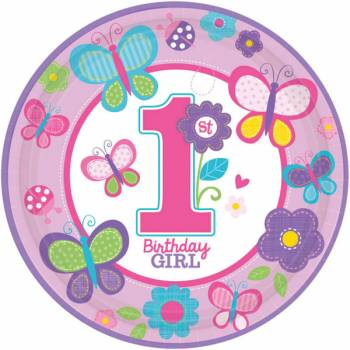 8 Assiettes Sweet girl 1an