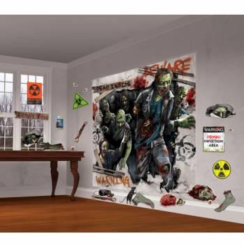 30 Décorations murales 30 pcs zombies