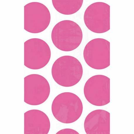 Sac en papier pois fuchsia à confiseries pour vos candy bars  Dimensions : 18 cm x 10.7 cm