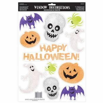 Assortiment de décors en gel happy halloween