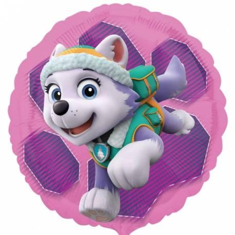Ballon aluminium Paw patrol pour la décoration anniversaire de votre enfant. Dimensions : 43 cm