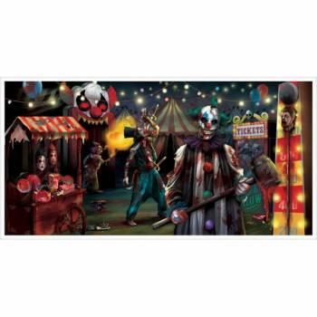 Décor mural clown effrayant