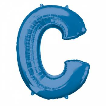 Mega Ballon Hélium lettre C bleu