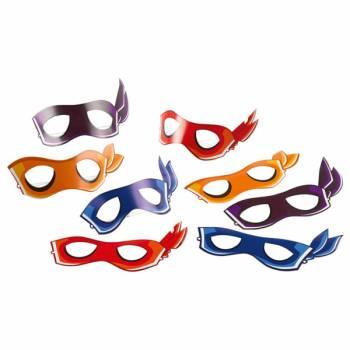 8 Masques Tortue Ninja half Shell Heroes