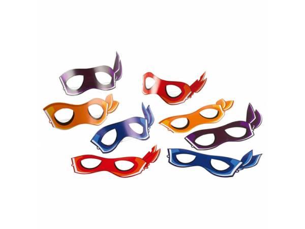 8 Masques Tortue Ninja half Shell Heroes- deco anniversaire