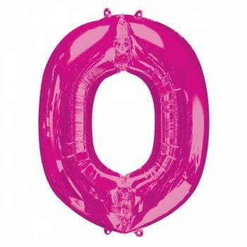 Mega Ballon Hélium lettre O fuschia