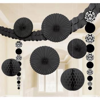 Kit décors de salle noir baroque